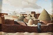 Jacques AZEMA (1910-1979) Village marocain. Huile