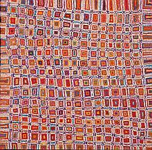 Lynette Singleton Nangala (1970 - ) Sans titre Acrylique sur toil