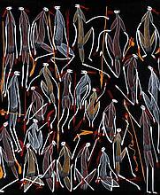 Edward Blitner (1964 - ) Sans titre Acrylique sur toile - 96 x 86
