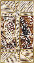 Jeffrey Dhupitij Goannas (Djanda) - 1996 Pigments naturels et ac