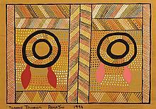 Dianne Tipungwuti Pamijini Acrylique sur papier - 75 x 50 cm