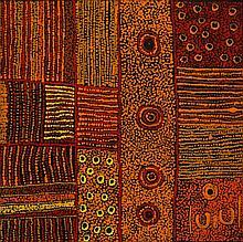 Elaine Woods (c. 1969 - ) Sans titre Acrylique sur toile - 75 x