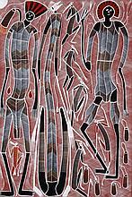 Edward Blitner (1964 - ) Sans titre Acrylique sur toile - 142 x 9