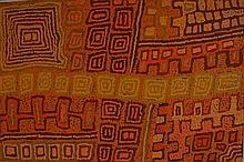 Patrick Tjungurrayi Olodoodi (c. 1940 - ) Sans titre Acrylique su