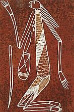 Glenn Namundja (1963 - ) Mimi Spirit, 1998 Pigments naturels et a