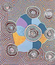 Jeanie Lewis Napangardi (c. 1950 - ) Mina Mina Dreaming, 2011 Acr