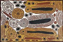 Ningura Napurrula (c. 1938 - ) Rockholes Acrylique sur toile - 19