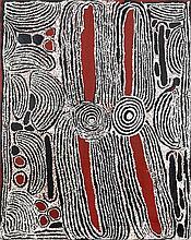 Ningura Napurrula (c. 1938 - ) Sans titre Acrylique sur toile - 1