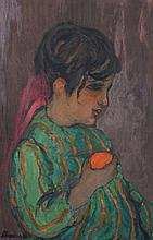 André SURÉDA (1872-1930)  ENFANT À L'ORANGE   CHILD WITH AN ORANGE