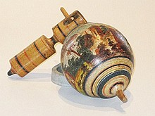 An English early 19th century decorated Spinning Top