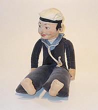 Norah Wellings Sailor Doll, English, 1930s, 33cm