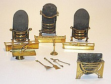 A collection of English miniature Fire Grates