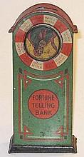 German tinplate Fortune Telling Bank