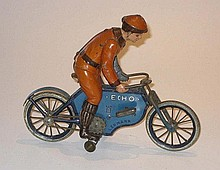 Lehmann Echo clockwork motorcycle, 12cm