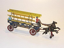 American Cast Iron horse drawn Ladder Escape Unit,