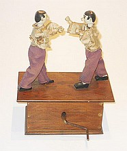 19th century Automaton with two boxing figures