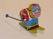 Japanese clockwork Skier, 8cm