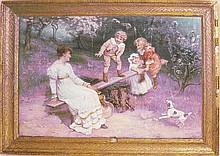 An Edwardian framed coloured print