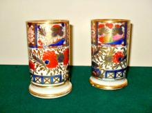 A Fine PAIR of English Chamberlain's Worcester Porcelain Spill Vases
