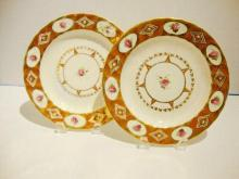 A PAIR Of English Derby Porcelain Plates