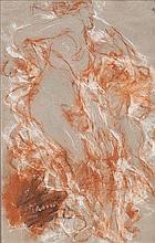 Antonio Mancini (Roma 1852 - 1930) Donna di profilo a figura intera