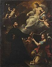 Scuola romana, secolo XVII Cristo appare a Sant'Ignazio di Loyola