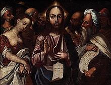 Scuola veneta, secolo XVI Cristo e l'Adultera