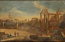 Giovanni Battista Busiri (Roma 1698 - 1757) Veduta di Campo Vaccino a Roma