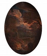 Attribuito a Pieter Mulier, detto il Cavalier Tempesta (Haarlem 1637 - Milano 1701) Paesaggio boschivo con pastore e armenti
