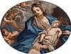 Scuola romana, secolo XVIII Madonna con Bambino e San Giovannino