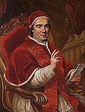 Attribuito a Giovanni Domenico Porta (San Maurizio D'Opaglio 1722 - Roma 1780) Ritratto di Papa Clemente XIV Ganganelli