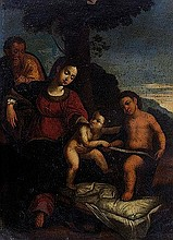 Scuola dell'Italia centrale, secolo XVI Sacra Famiglia e San Giovannino