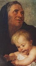 Scuola europea, secolo XIX, da Rubens Sant'Anna con il Bambino