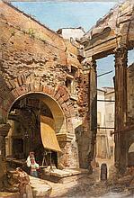 Attribuito a Carl Ebert (Stoccarda 1821 - Monaco di Baviera 1885) Roma, vita presso l'antico Portico d'Ottavia
