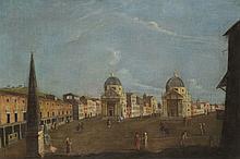 Scuola romana, secolo XVIII Veduta di Piazza del Popolo