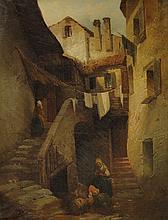 Scuola italiana, secolo XIX Vicolo di paese
