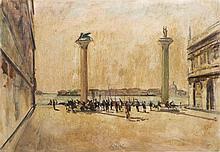 Fioravante Seibezzi (Venezia 1906 - 1974) 'Piazzetta San Marco'