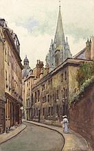Giuseppe de Sanctis (Napoli 1858 - 1924) Parigi, a passeggio nel vicolo