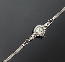 Piccolo orologio da donna in oro bianco 18 kt