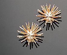 Orecchini in oro giallo 14 kt, Cartier