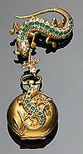 Spilla orologio, metà Ottocento