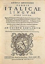 Lingua italiana - Monosini, Angelo
