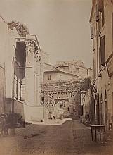 Anonimo Roma, Largo dei Pantani, Tempio di Marte Ultore, ca. 1860