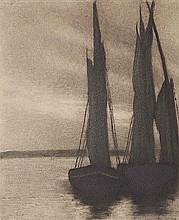 Domenico Riccardo Peretti Griva (1882-1962) Vele a riposo, ca. 1930