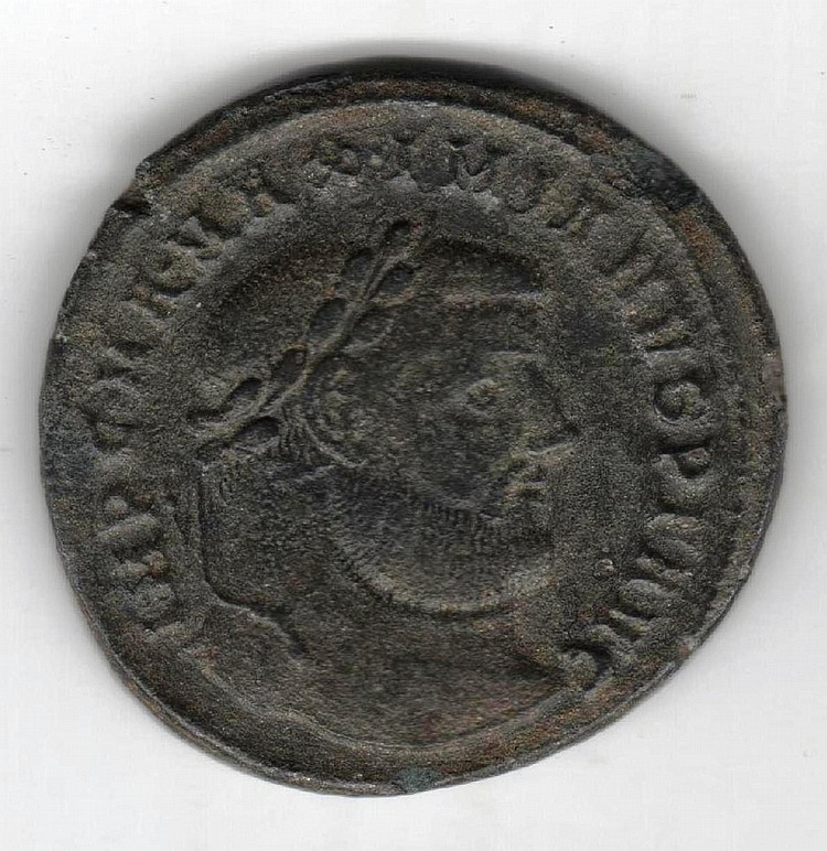 Ancient Roman Bronze Maximianus Herculius Coin