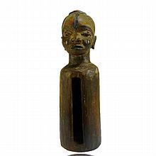 Kongo Anthropomorphic Slit Gong