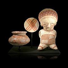 Impressive Pre-columbian Chinesco Trio