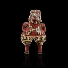 Pre-columbian Chupicuaro Polychrome Figure