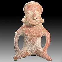 Pre-columbian Pihuamo Hollow Seated Figure