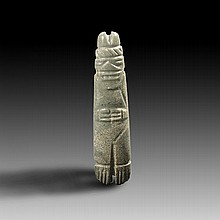 Pre-columbian Costa Rican Jade Axe god